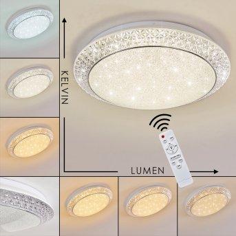 PARRITA Ceiling light LED white, 1-light source, Remote control, Colour changer