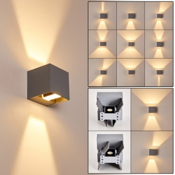 Outdoor Wall Light Fauderup LED grey, 2-light sources