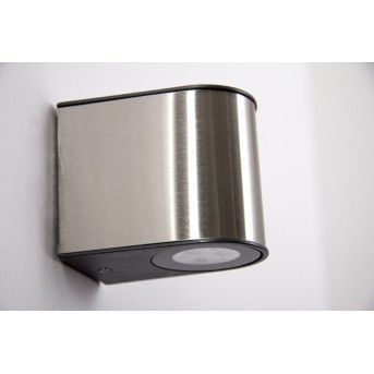 Lutec LED outdoor wall light brushed steel, 6-light sources