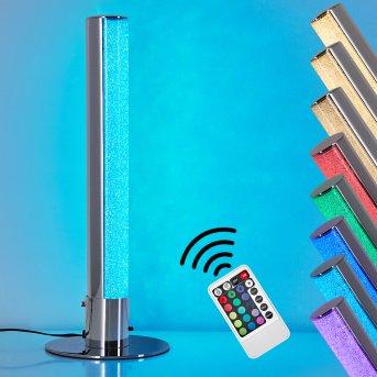 Flaut Table Lamp LED chrome, 1-light source, Remote control, Colour changer