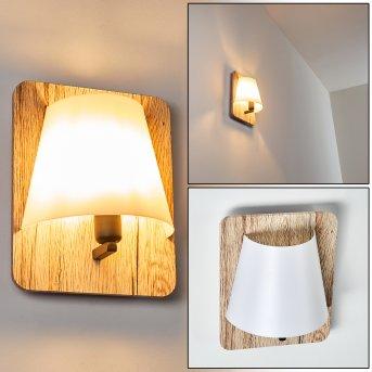 HUDDINGE Wall Light Light wood, 1-light source