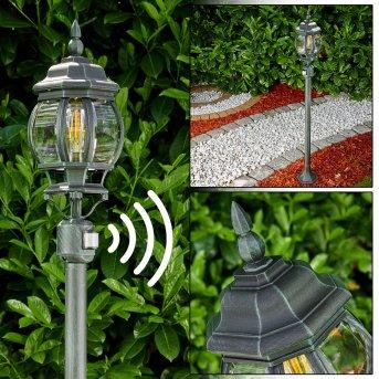 Lentua outdoor Floor Lamp black, green , 1-light source, Motion sensor