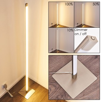 PLAYA Floor Lamp LED matt nickel, 1-light source