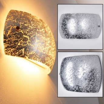 Pilar Wall Light silver, 2-light sources