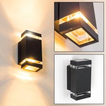 Edevik Outdoor Wall Light black, 2-light sources