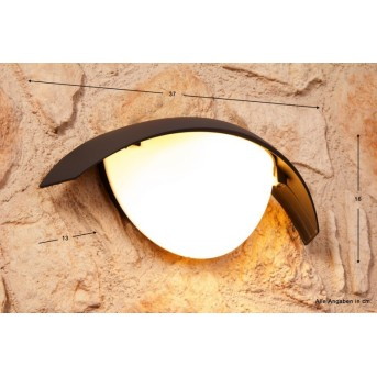 Lutec CLIP outdoor wall light black, anthracite, 1-light source