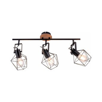 Leuchten-Direkt JARO Ceiling Light Light wood, 3-light sources
