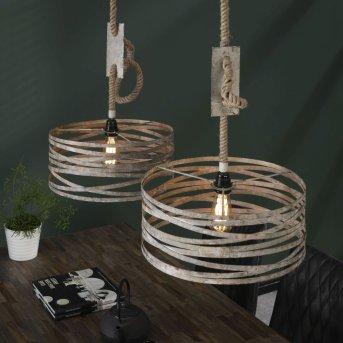 TORNWERD Pendant Light rust-coloured, brown, 2-light sources
