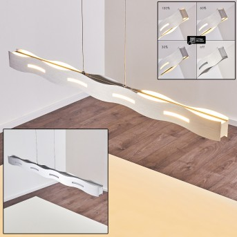 NAGOLD Pendant Light LED matt nickel, 1-light source