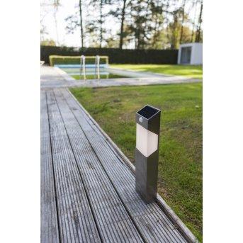 Lutec SOLSTEL path light LED stainless steel, 1-light source, Motion sensor