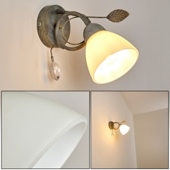Peccia Wall Light grey, 1-light source