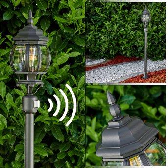 Lentua outdoor Floor Lamp black, 1-light source, Motion sensor