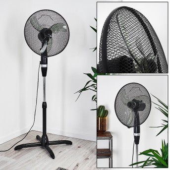 LUBBOCK standing fan chrome, black