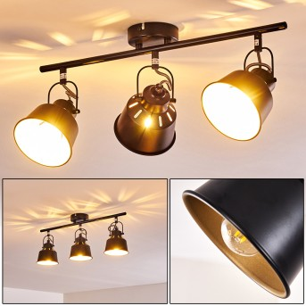 Safari Ceiling Light black-gold, 3-light sources