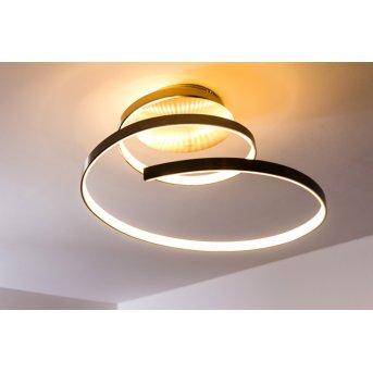 Wofi LAVAL ceiling light LED matt nickel, 1-light source