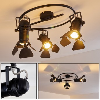 LICHINGA Ceiling Light black, 3-light sources
