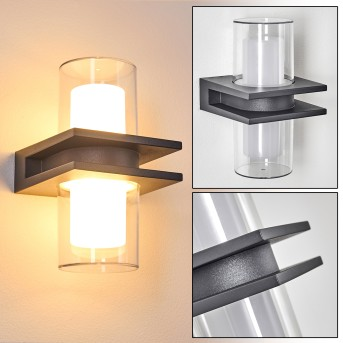 Kekenis Outdoor Wall Light LED anthracite, 1-light source