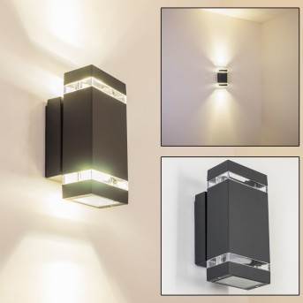 Lutak outdoor wall light LED anthracite, 2-light sources