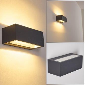 SPIDERN Outdoor Wall Light LED aluminium, 1-light source