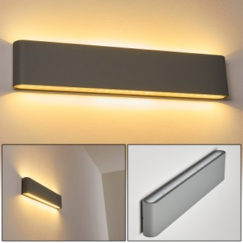 TINGLEV Outdoor Wall Light LED grey, 2-light sources