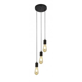 Pendant Light Searchlight SQUIGGLE black, 3-light sources