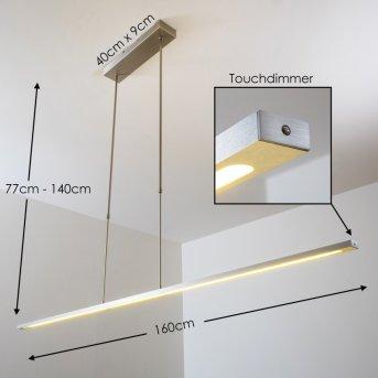 Masterlight hanging light LED matt nickel, aluminium, 1-light source