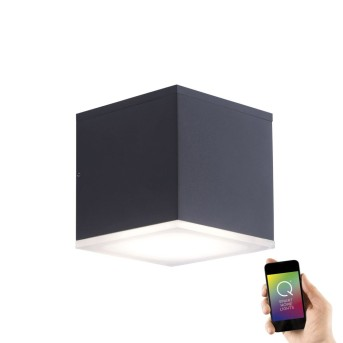 Paul Neuhaus Q-AMIN Wall Light LED anthracite, 1-light source, Remote control, Colour changer