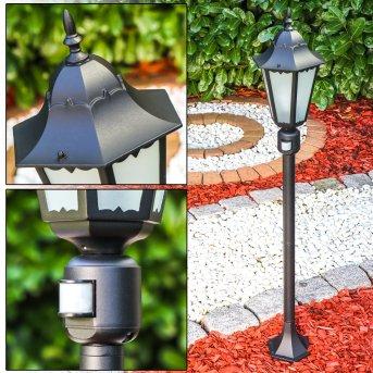 HONGKONG FROST outdoor floor lamp black, Motion sensor
