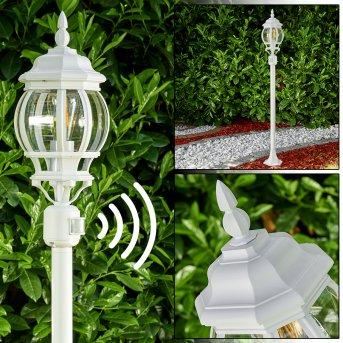 Lentua outdoor Floor Lamp white, 1-light source, Motion sensor
