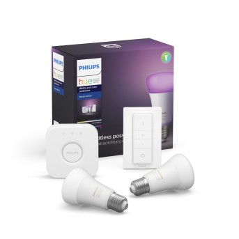 Philips HUE LED Ambiance White & Color E27 Starter-Set of 2