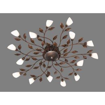 Trio 6228 ceiling light LED rust-coloured, 15-light sources