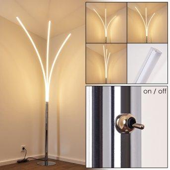 HORPMAAL Floor Lamp LED chrome, 3-light sources