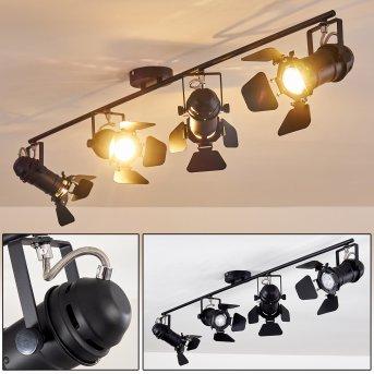 LICHINGA ceiling spotlight black, 4-light sources