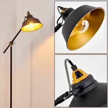 LUVEN Floor Lamp black, gold, black-gold, 1-light source