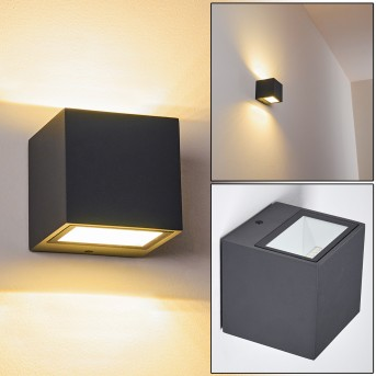 SPIDERN Outdoor Wall Light LED anthracite, 1-light source