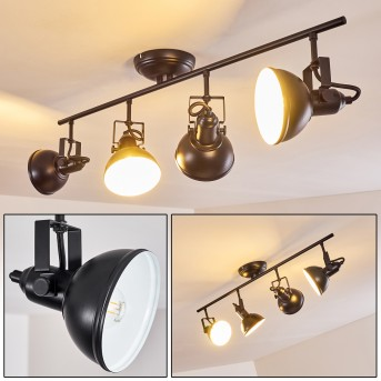 Tina Ceiling Light black, 4-light sources