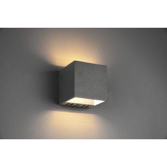 Trio FIGO Wall Light LED black, 1-light source, Remote control, Colour changer