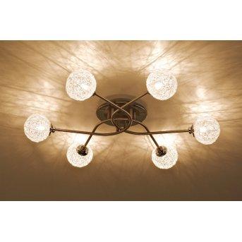 Paul Neuhaus WOMBLE ceiling light stainless steel, 6-light sources