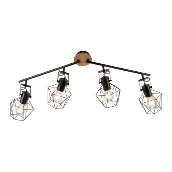 Leuchten-Direkt JARO Ceiling Light Light wood, 4-light sources