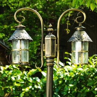 Tolep lamppost black-gold, 2-light sources