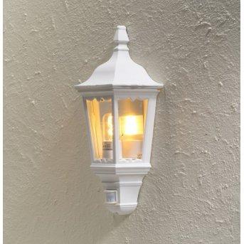 Konstsmide Firenze wall light white, 1-light source, Motion sensor