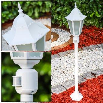 HONGKONG FROST outdoor floor lamp white, 1-light source, Motion sensor