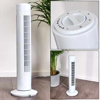 CHERBOURG standing fan white