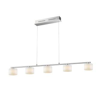 Trio ALEGRO Pendant Light LED matt nickel, 5-light sources