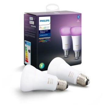 Philips HUE LED Set of 2 Ambiance White & Color E27 9,5 Watt 6500 Kelvin 806 Lumen