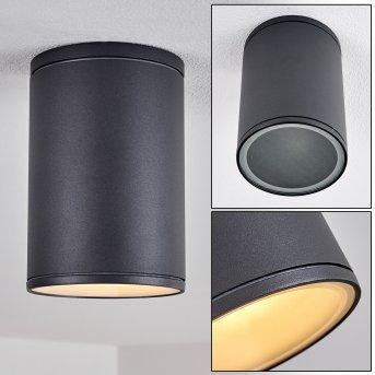 AGUA Ceiling Light black, 1-light source