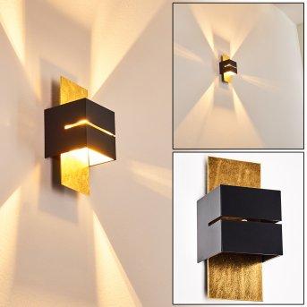 Tora Wall Light black-gold, 1-light source