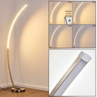 Antares Floor Lamp LED matt nickel, 1-light source