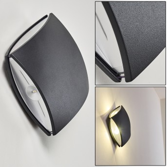 Outdoor Wall Light Bannwil LED anthracite, 1-light source
