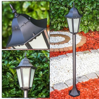 HONGKONG FROST outdoor floor lamp black, 1-light source